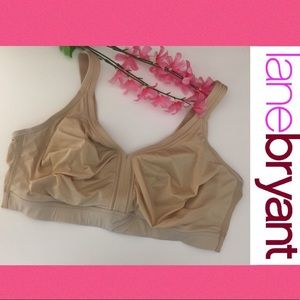 Lane Bryant Cacique Nude Wireless Support Bra🎉42G